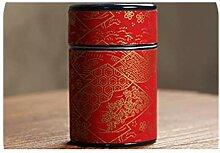 Teedose mit japanischem Aufkleber, Kung Fu Teedose