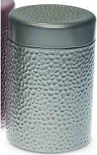 Teedose, Vorratsdose STONES SILBER für 500g H. 19cm D. 11cm Eigenart (9,95 EUR / Stück)