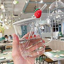 Teegläser Frühstückstassen Glasbecher Deckel