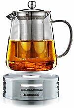 Teekanne 1,4L Glas mit Edelstahlfilter Magnat mit