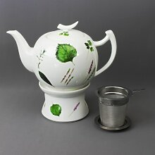 Teekanne 1,5L + Stövchen + Teefilter - Prima Vera
