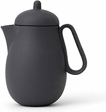 Teekanne 1 Liter aus Porzellan, Tropffrei,