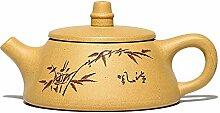 Teekanne, 145 ml, lila Ton, Yixing-Teekanne,