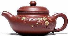 Teekanne, 240 ml, chinesischer Yixing-Zisha-Ton,