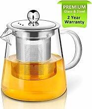 Teekanne, 450ml Glas-Teekanne mit-Ei von