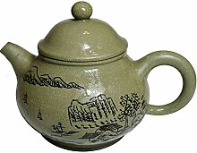 Teekanne 6.6oz/200ml Yixing grün Zisha Tee Töpfe