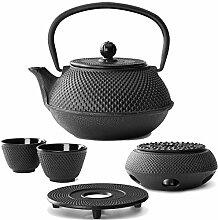 Teekanne asiatisch Gusseisen Set 0,8 Liter mit