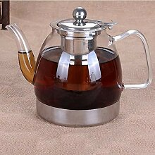 Teekanne aus dickem Glas mit Teesieb aus 304