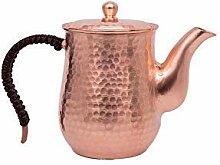 Teekanne aus gehämmertem reinem Kupfer mit