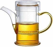 Teekanne aus Glas für hohe Temperaturen,