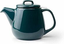 Teekanne aus Glas mit herausnehmbarem Teesieb in