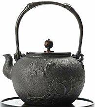 Teekanne aus Gusseisen Eisenkessel, gusseiserne