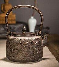 Teekanne aus Gusseisen Geprägter Teeofen aus