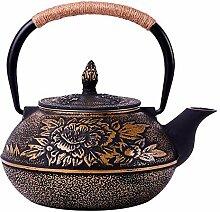 Teekanne aus Gusseisen mit Herausnehmbarem Teesieb