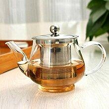 Teekanne aus hitzebeständigem Glas mit