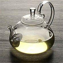Teekanne aus hitzebeständigem Glas mit Filter,