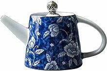 Teekanne Aus Keramik Blaue Und Weiße Porzellan