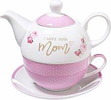 Teekanne aus Keramik I Love You Mom –
