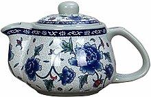 Teekanne Aus Keramik Keramik Teekanne Blau Und