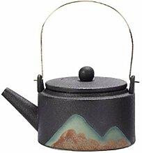 Teekanne aus Keramik, kreative Glasur, zum