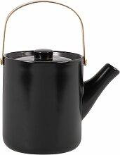 Teekanne aus Porzellan, schwarz 1,07 l