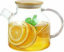 Teekanne, Borosilikatglas mit Edelstahlfilter für