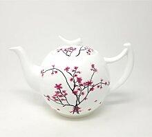 Teekanne CHERRY BLOSSOM weiß mit Kirschblüten