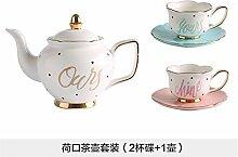 Teekanne Cup-keramik-becher Set Filter Blase Blume