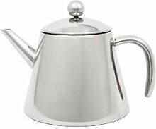 Teekanne doppelwandig 1,2L Edelstahl glänzend