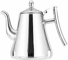 Teekanne für Herd Edelstahl Tee Kaffeekanne