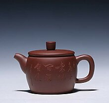 Teekanne lila Ton Teekanne authentisch
