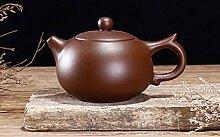 Teekanne lila Ton Teekanne handgefertigt Dahongpao