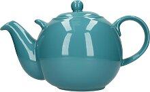 Teekanne London Pottery Globe aqua hellblau für