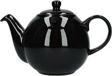 Teekanne London Pottery Globe schwarz glänzend