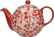 Teekanne London Pottery Splash Globe rot für