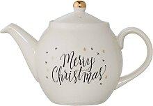 Teekanne MERRY CHRISTMAS D. 24cm H. 16cm Steingut