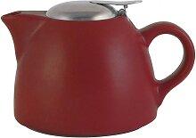 Teekanne mit Sieb BARCELONA für 1300ml matt rot