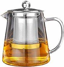 Teekanne mit Teesieb aus hitzebeständigem
