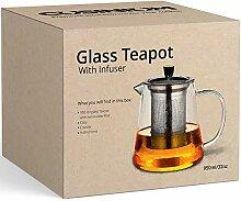 Teekanne mit Teesieb für losen Tee, 940 ml, in