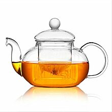 Teekanne mit Teesieb, hitzebeständig, 600 ml