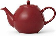 Teekanne Porzellan mit Henkel Tropffrei, inklusiv