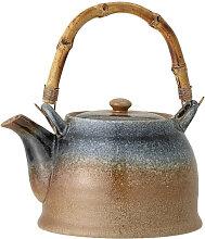 Teekanne Teapot Aura blau/braun