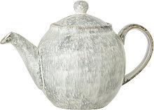 Teekanne Teapot Natasha Steingut grau
