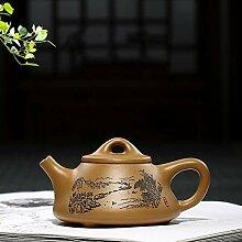 Teekanne, Teekanne, lila Tonstein, Steinschaufel,