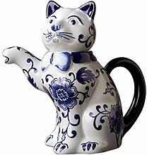 Teekanne Teekessel Blaue Und Weiße Porzellan