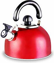Teekanne Teekessel Roter Pfeifenemail-Teekessel