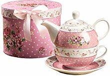 Teekanne und Tasse, Vintage, Rose, Viktoria,