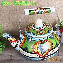 Teekanne Wasserkocher Features Handgemalter Filter