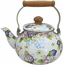 Teekannen 1.3L Emaille Wasserkocher Teekanne