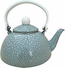 Teekannen 1,5 L Halbrunde Topf Emaille